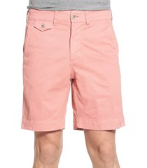men's vintage 1946 'sunny' stretch chino shorts, size 32 - red
