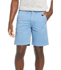 men's vintage 1946 'sunny' stretch chino shorts, size 34 - blue