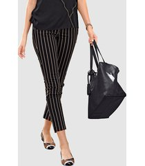 broek alba moda zwart::taupe