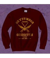 chaser old gryffindor quidditch team unisex crewneck sweatshirt maroon