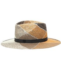 'charles' check straw hat