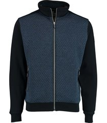 baileys sweat vest met rits blauw 202212/535
