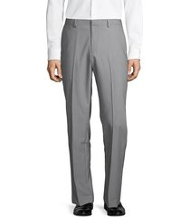 saks fifth avenue men's classic stretch dress pants - charcoal - size 34 32