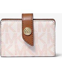 mk portafoglio piccolo con logo color block - pnkgrpft mlt - michael kors