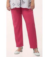 pantalón tobillero unicolor rosado 24