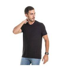camiseta masculina basica branco (30000) p preto