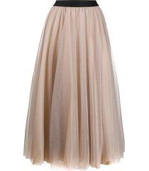 blanca vita grazia tulle skirt - pink
