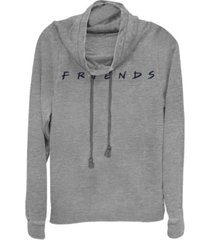 fifth sun friends classic letters logo cowl neck women's pullover fleece