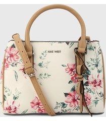 bolso blanco hueso-multicolor nine west