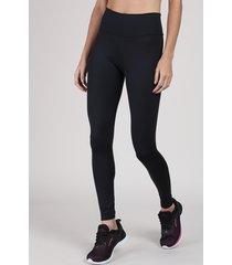 calça legging feminina esportiva ace básica cós largo preta