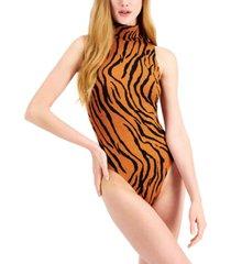 bar iii animal-print sleeveless bodysuit, created for macy's