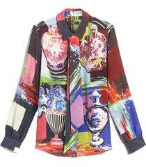 rail silk crêpe de chine shirt