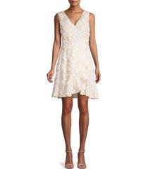 rebecca taylor women's nicola sleeveless wrap dress - cream - size 4