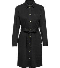 b.intl minato dress knälång klänning svart barbour