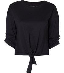 camiseta le lis blanc amy piercing feminina (preto, gg)