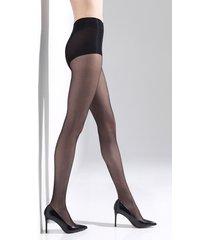 natori shimmer sheer tights, women's, black, cotton, size l natori