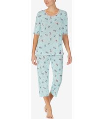 cuddl duds printed capri pants pajama set