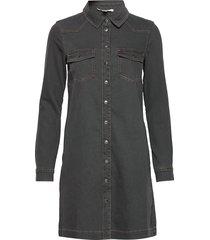 dresses denim kort klänning svart esprit casual