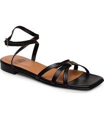 sandals 14103 shoes summer shoes flat sandals svart billi bi