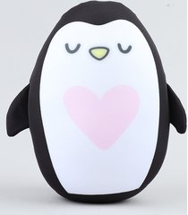almofada de pinguim preta