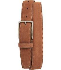 men's big & tall torino nubuck leather belt, size 46 - whiskey