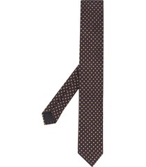 dolce & gabbana floral embroidered tie - blue
