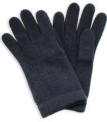 portolano women's classic cashmere gloves - navy