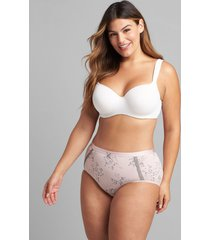 lane bryant women's extra soft full brief panty 34/36 parisian floral