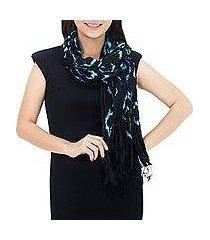 silk scarf, 'licorice dance' (thailand)