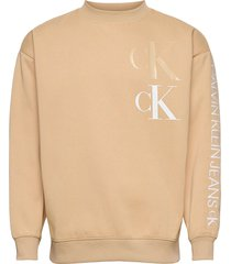 ck eco fashion mock neck sweat-shirt trui beige calvin klein jeans
