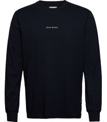 down longsleeve - light grey melange t-shirts long-sleeved blauw forét
