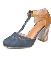 nuevas sandalias de moda con punta redonda para mujer chunky stacked high