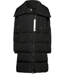 frlawinter 1 outerwear gevoerde lange jas zwart fransa