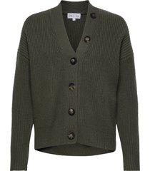heavy knit buttons cardigan gebreide trui cardigan groen davida cashmere