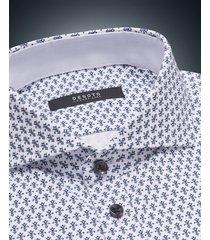 desoto luxury line heren overhemd tulpen cutaway jersey slim fit blauw