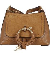 see by chloé top zip ring detail shoulder bag