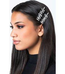 akira hu$tle hair clip set