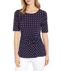 women's chaus dot side knot top