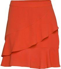 origami skirt kort kjol orange modström