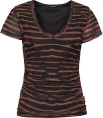 maglia con arricciature (marrone) - bodyflirt