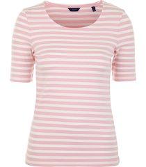 striped ribb ss t-shirt