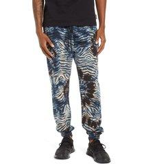 men's icecream tie dye zebra stripes sweatpants