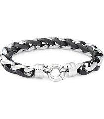 spring-ring link chain bracelet