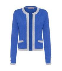 casaqueto feminino olympia - azul