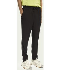 scotch & soda mid-rise drawstring trousers