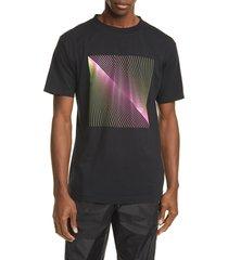 men's marcelo burlon optical graphic t-shirt