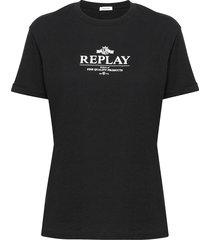 skirt t-shirts & tops short-sleeved svart replay