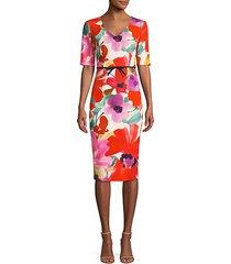camellia blossom smoothie mid century dress
