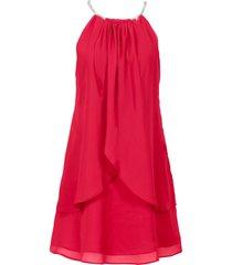 abito in chiffon con collier (rosso) - bodyflirt