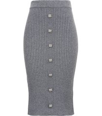 giuseppe di morabito ribbed knit skirt with buttons